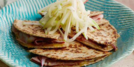 Ham, Apple and Cheese Quesadilla