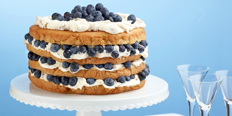Billie's Italian Cream Cake with Blueberries Recipes | Food Network ...