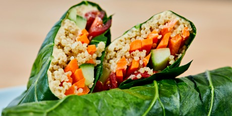 Veggie and Quinoa Collard Wraps