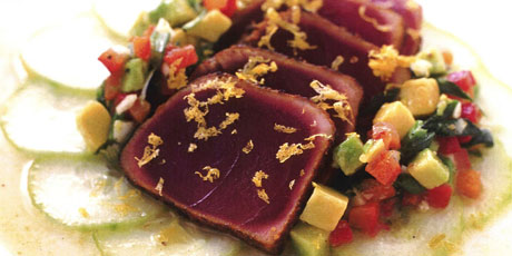 African Adobo-rubbed tuna (Seared, Spice-rubbed Tuna ...