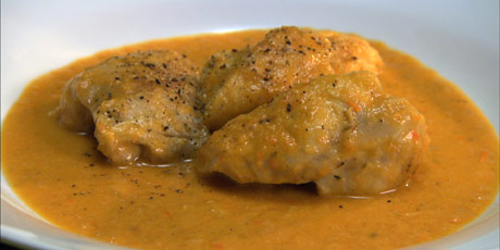 Anna's Braised Chicken in Bell Pepper Sauce Recipes | Food Network ...