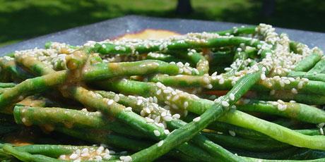 Asian Green Bean Salad with Three Sesame Dressing Recipes | Food ...