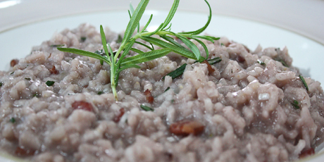 Bacon and Blue Cheese Risotto