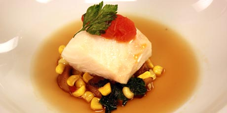 Baked cod with bbq pork consomm recipes food network canada baked cod with bbq pork consomm forumfinder Image collections