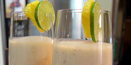 Banana Rum Coconut Smoothies Recipes Food Network Canada
