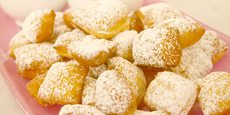 Beignets with Brandy Caramel Sauce and Chocolate Bourbon Sauce Recipes ...