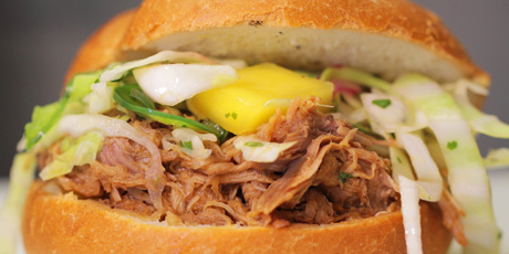 Bourbon-Mango Pulled Pork