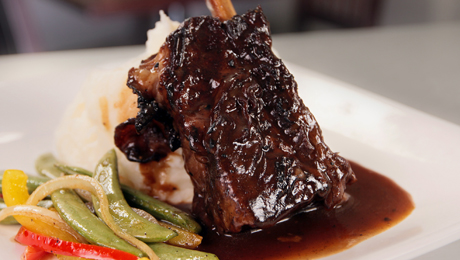 Beef short ribs made with a homemade marinade of vegetables, herbs and ...