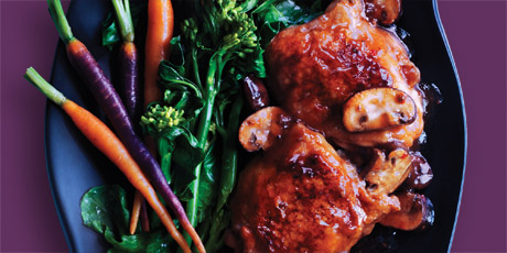 Braised Chicken Thighs with Chinese Broccoli