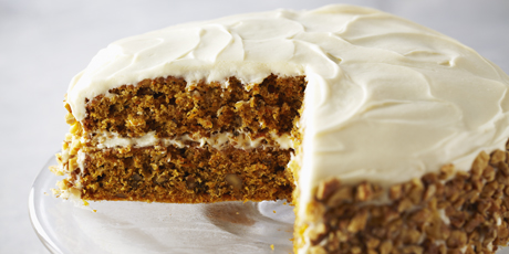 Moist and creamy, this carrot cake is a light, refreshing dessert for ...
