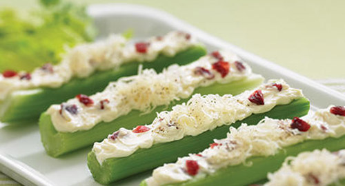 Cheese Stuffed Celery Sticks