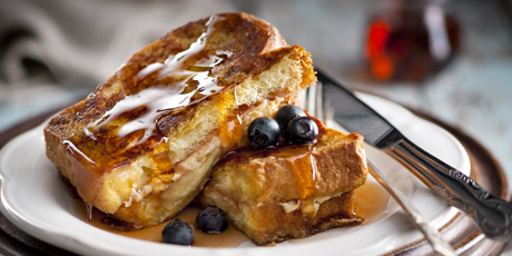 Cheese & Strawberry Stuffed French Toast
