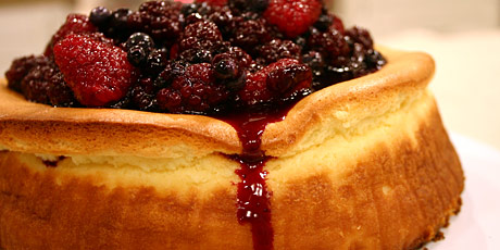 Cheesecake with mixed berry sauce recipes food network canada cheesecake with mixed berry sauce forumfinder Gallery