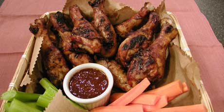 Chicken drumsticks with coffee barbecue sauce recipes food chicken drumsticks with coffee barbecue sauce forumfinder Choice Image
