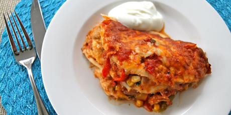 Chicken fajita lasagna recipes food network canada chicken fajita lasagna forumfinder Choice Image