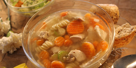 Chicken noodle soup with multigrain buns and caesar salad recipes chicken noodle soup with multigrain buns and caesar salad forumfinder Image collections