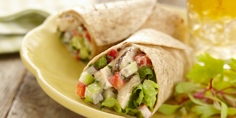Chicken salad wrap recipes food network canada chicken salad wrap print recipe forumfinder Choice Image