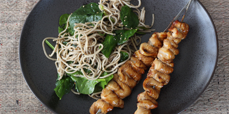 Chicken yakitori with soba salad recipes food network canada chicken yakitori with soba salad print recipe forumfinder Images