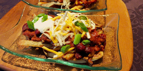 Chili Cheese Oven-Baked Fries Recipes | Food Network Canada
