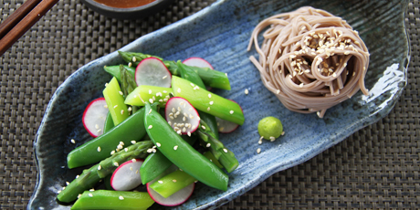 Chilled Asparagus, Snap Pea & Soba Noodle Salad