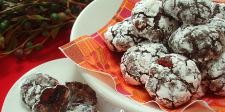 Chocolate Cherry Crackles Recipes | Food Network Canada