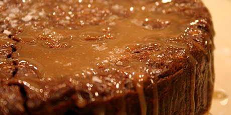 Chocolate Pecan Torte with Caramel Sauce and Fleur de Sel Recipes ...