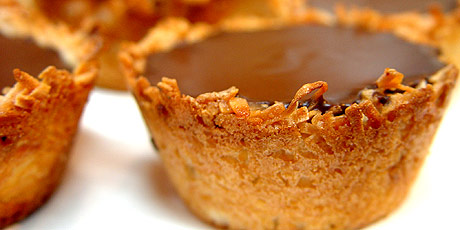 Coconut Tarts with Chocolate and Coconut Cream