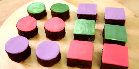 Colourful Iridescent Fudge Brownies