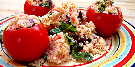 Couscous-Stuffed Tomatoes