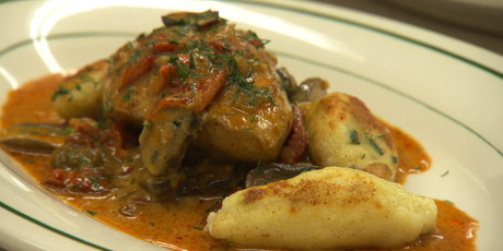 Creamy Chicken Paprika with Czech Potato Dumplings