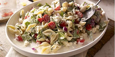 Creamy mediterranean pasta salad recipes food network canada creamy mediterranean pasta salad print recipe forumfinder Choice Image