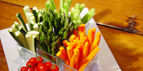 Crudites with roasted onion dip recipes food network canada