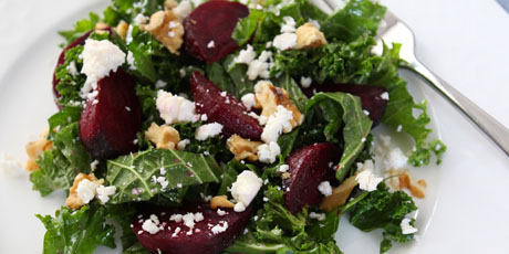 Cumin Roasted Beets, Kale and Feta Salad Recipes | Food Network Canada