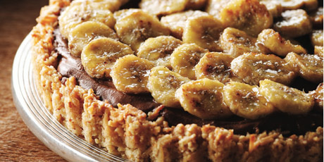 Dark Chocolate & Caramelized Banana Pie