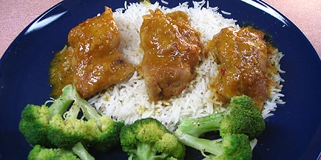 Dijon Baked Chicken with Rice and Broccoli