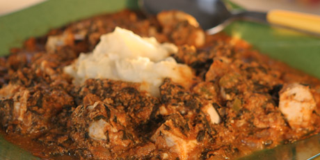 Equsi soup nigerian chicken stew with foo foo pounded yam equsi soup nigerian chicken stew with foo foo pounded yam forumfinder Image collections