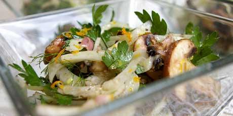 Fennel mushrooms recipes dishmaps for Morel mushroom recipes food network