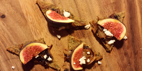Fig and Caramelized Onion Bruschetta