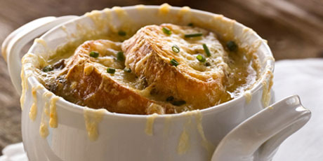 French Onion Soup with Croutons au Gratin Recipes | Food Network ...