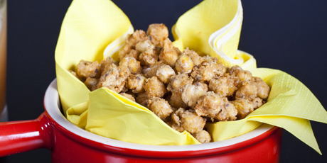 Fried Chick Peas with Secret Rub