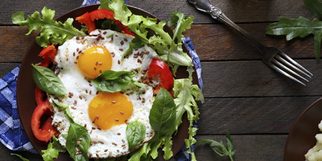 Fried Egg Spring Mix Salad Recipes Food Network Canada