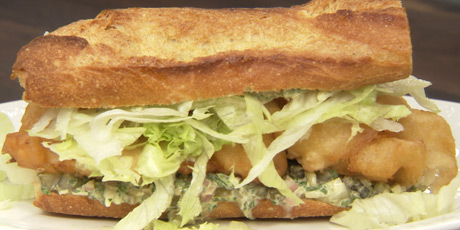 Fried Haddock Po' Boy