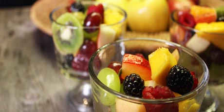 Fruit Salad with Savoury Dressings