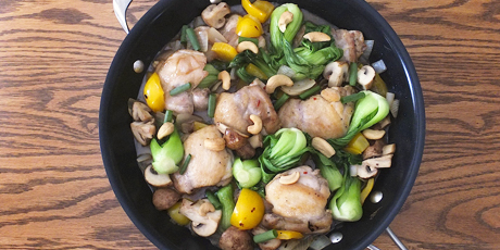 Ginger chicken hot pot with cashews recipes food network canada ginger chicken hot pot with cashews print recipe forumfinder Image collections
