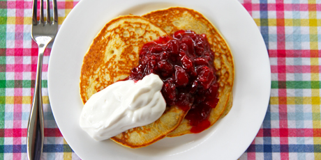 Gluten-Free Pancakes with Berry Compote
