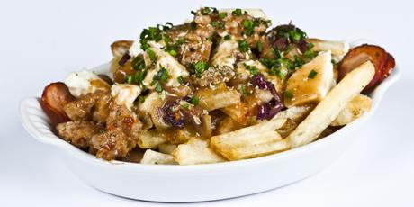 -Canadian classic, Greek-style! Potato fries, Kalamata olives, Greek ...