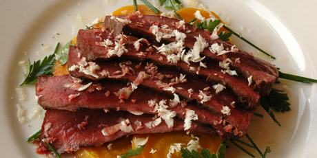 Grilled Beef Heart with Roasted Golden Beets and Horseradish Recipes ...