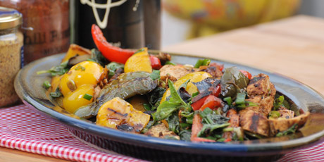 Grilled chicken pepper salad recipes food network canada grilled chicken pepper salad forumfinder Gallery