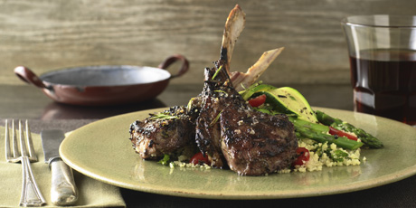 Grilled Lamb Chops with Summer Salad