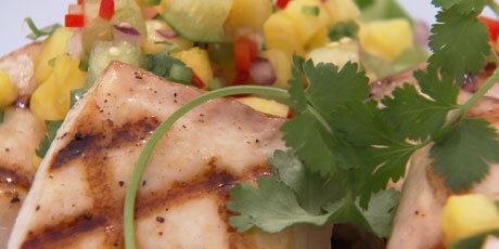Grilled Mahi-Mahi with Pineapple Tomatilla Salsa